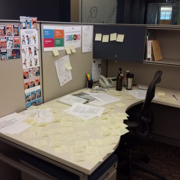 creativity and collaboration desk